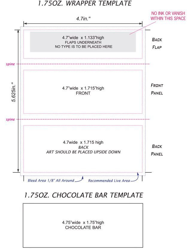 Candy Bar Wrapper Template Free Candy Bar Wrappers Template Google Search
