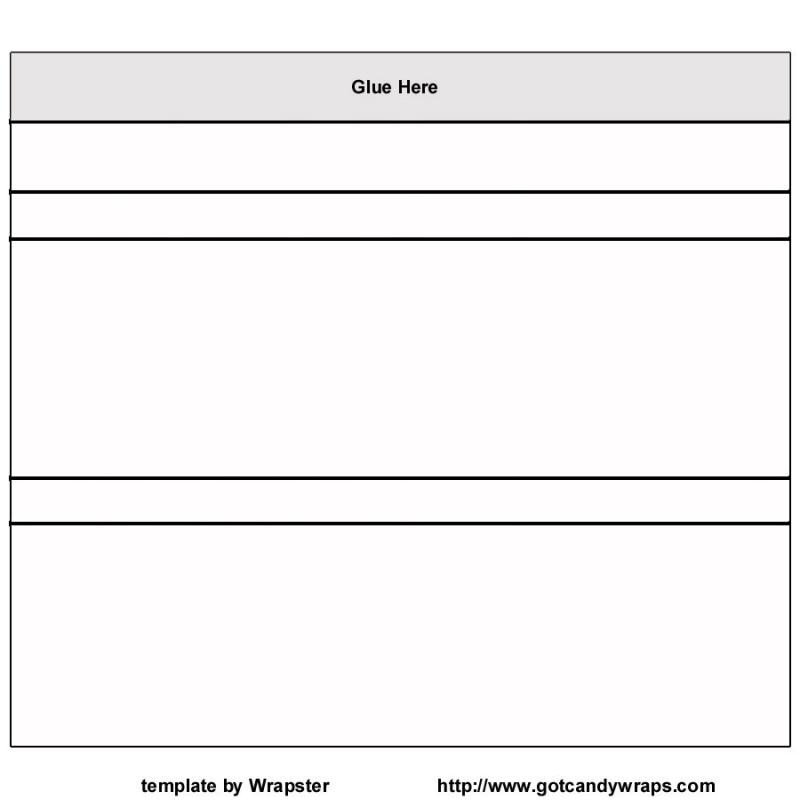 Candy Bar Wrapper Template Free Candy Wrapper Template