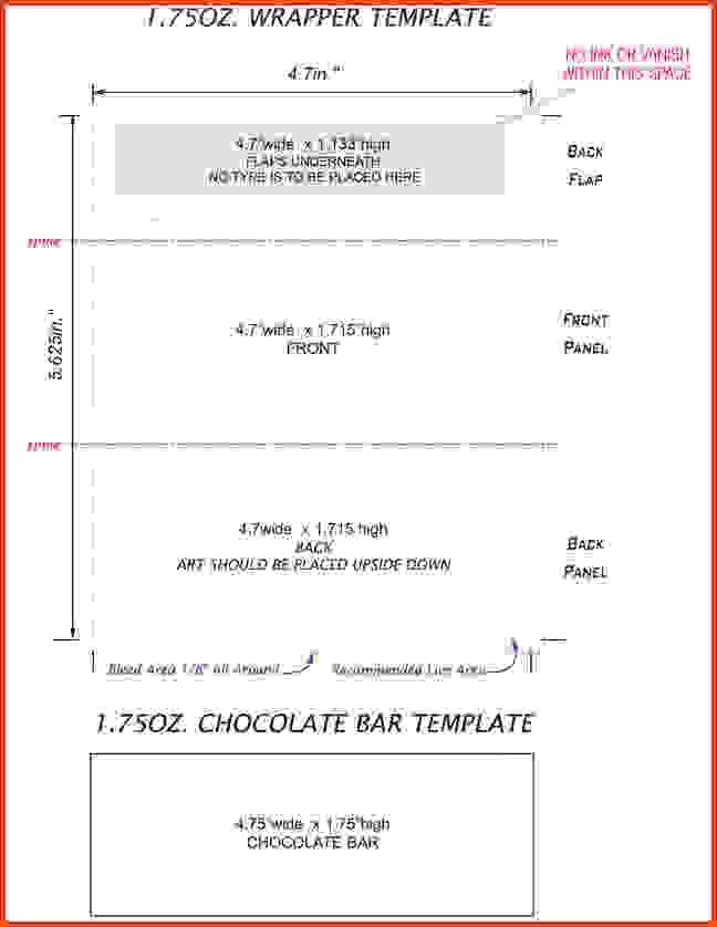 Candy Bar Wrapper Template Hershey Bar Wrapper Template