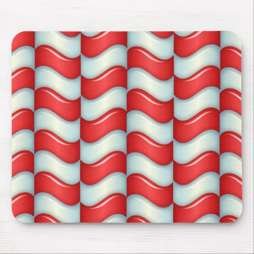 Candy Cane Mouse Pattern Candy Cane Stripes Pattern Mouse Pad