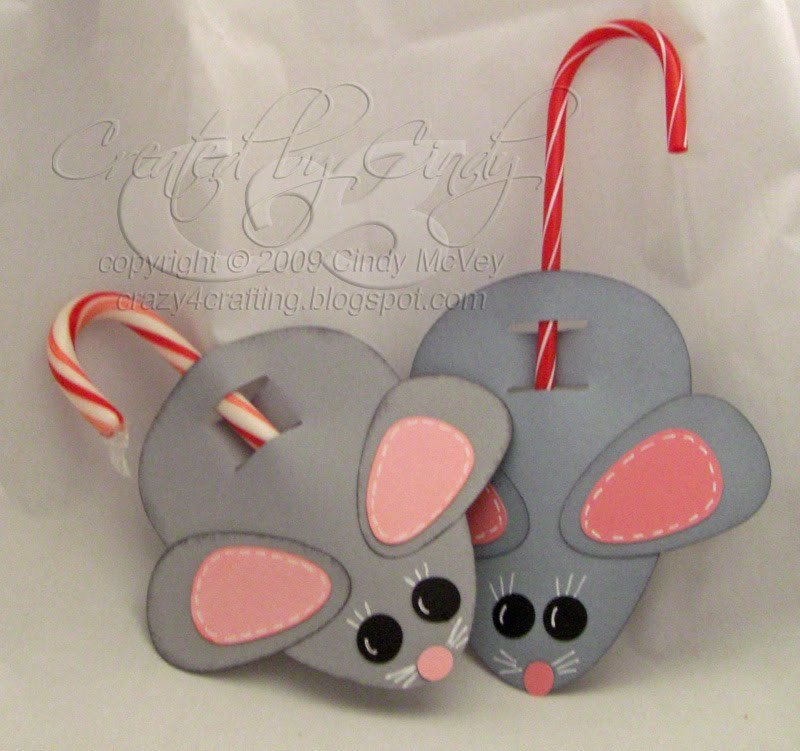 Candy Cane Mouse Pattern Crazy for Crafting Not A Creature Was Stirring T even