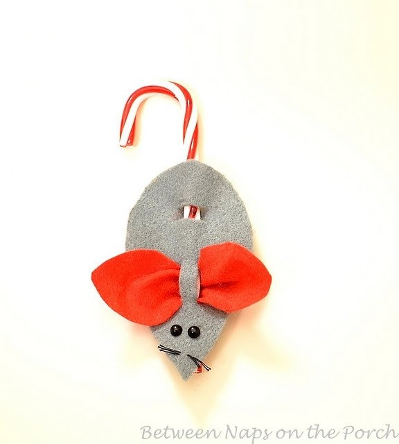 Candy Cane Mouse Pattern Make A Christmas Mouse Candycane ornament or Present topper
