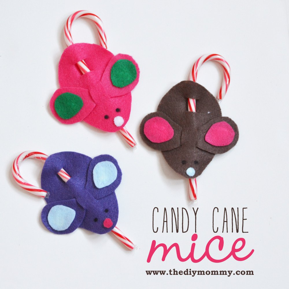 Candy Cane Mouse Pattern Make Candy Cane Mice – A Kid's Christmas Craft