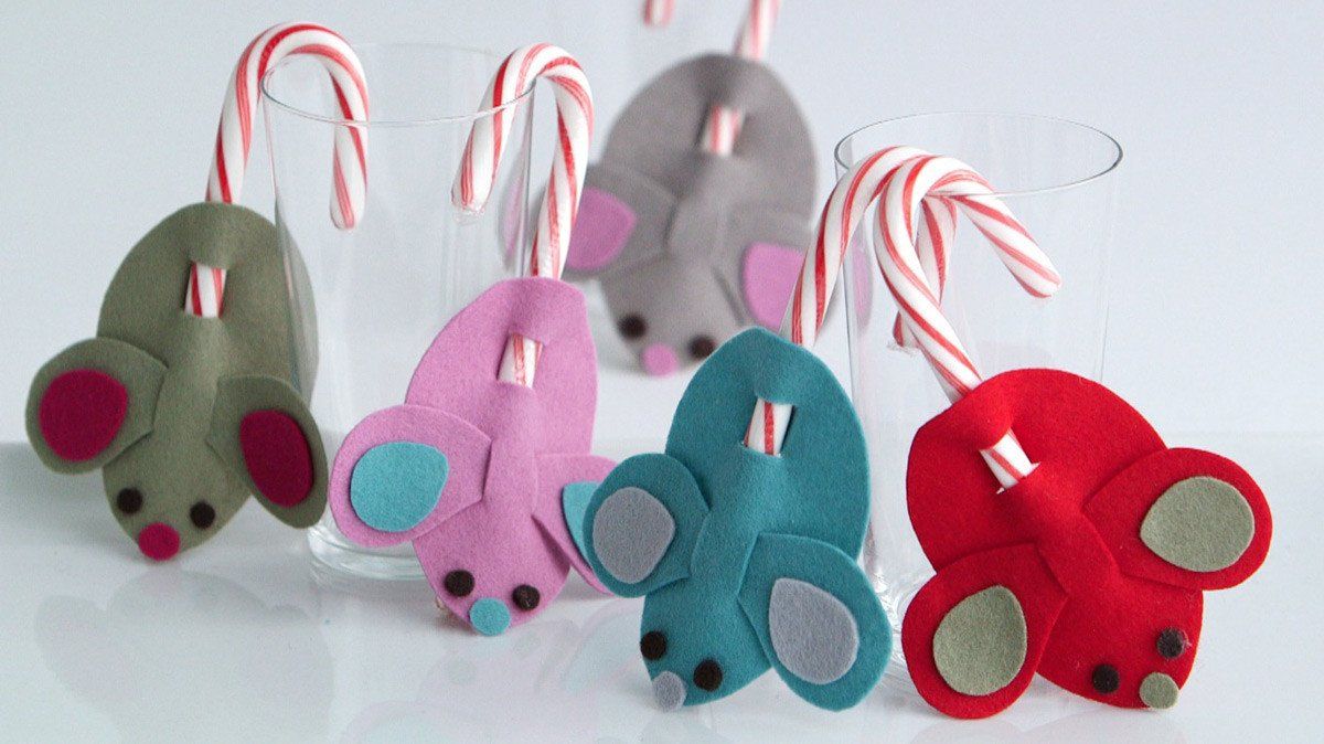 Candy Cane Mouse Pattern Video Diy Candy Cane Mice