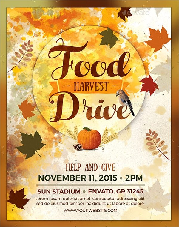 Canned Food Drive Flyer Template 18 Food Drive Flyer Templates Psd Ai Word