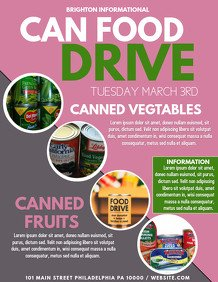 Canned Food Drive Flyer Template 5 710 Customizable Design Templates for Food Drive