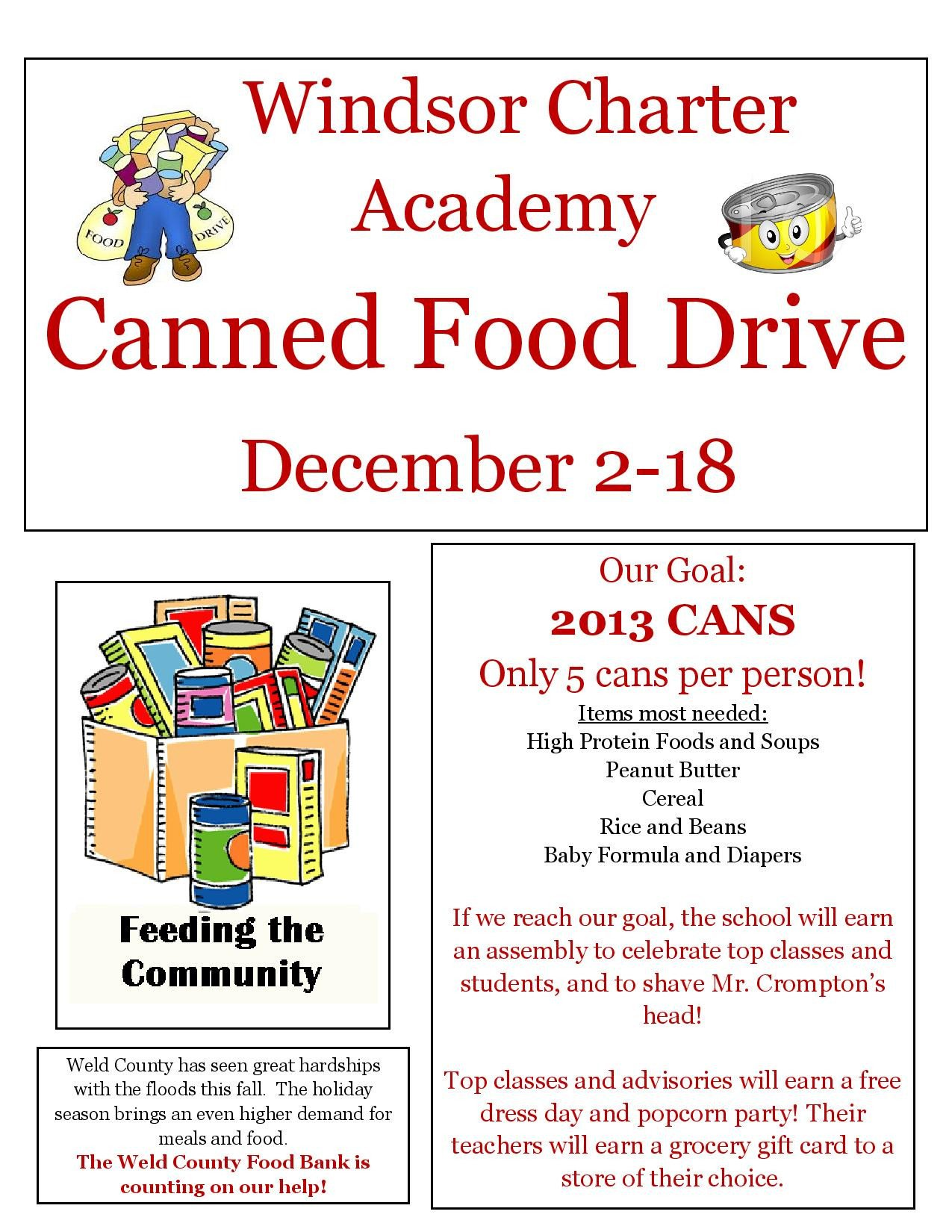 Canned Food Drive Flyer Template Can Food Drive Flyer Template to Pin On Pinterest