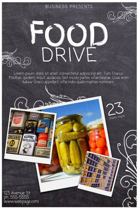 Canned Food Drive Flyer Template Copy Of Food Drive Template