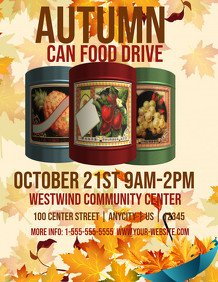Canned Food Drive Flyer Template Customizable Design Templates for Food Drive