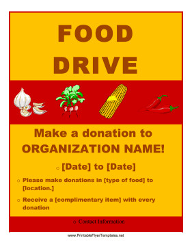 Canned Food Drive Flyer Template Food Drive Flyer