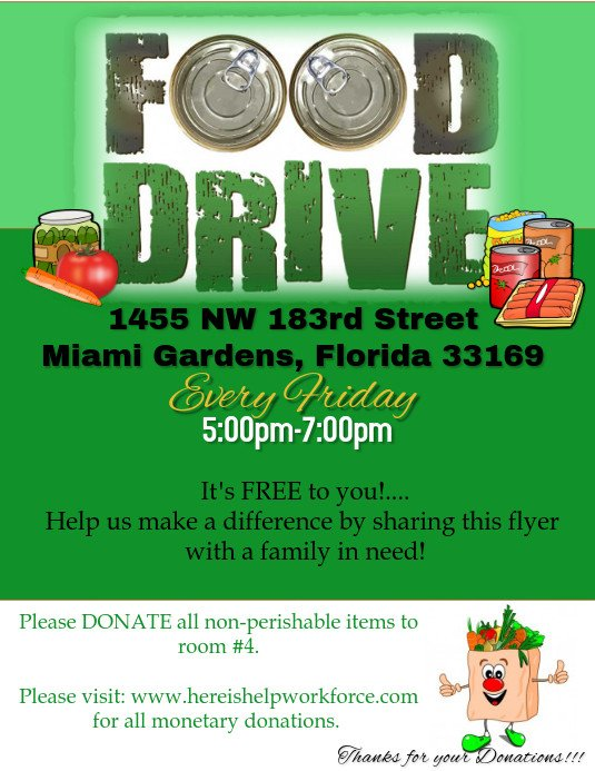 Canned Food Drive Flyer Template Food Drive Flyer Template