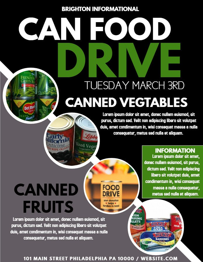 Canned Food Drive Flyer Template top 10 Templates From the Design Munity Vol 8