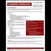 Capability Statement Template Free Capability Statements Archives Tar Gov Tar Gov