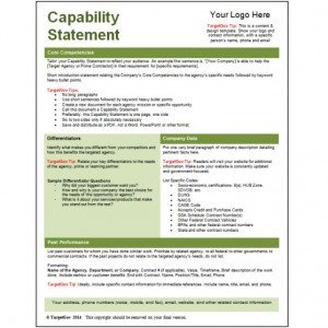 Capability Statement Template Free What are the Different Types Of Capability Statements