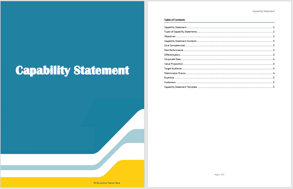 Capability Statement Template Word Capability Statement Template Microsoft Word Templates
