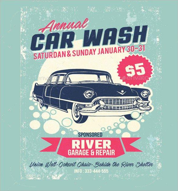 Car Wash Flyer Template 26 Car Wash Flyers Psd Word Psd Ai Eps Vector