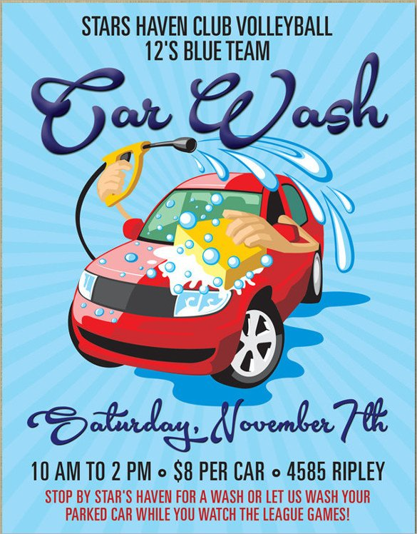 Car Wash Flyer Template 26 Car Wash Flyers Psd Word Psd Ai Eps Vector