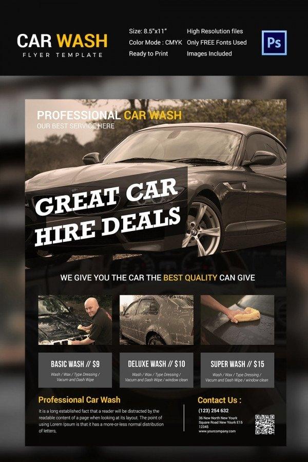 Car Wash Flyer Template Car Wash Flyer 48 Free Psd Eps Indesign format