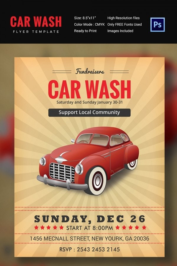 Car Wash Flyer Template Car Wash Flyer 48 Free Psd Eps Indesign format