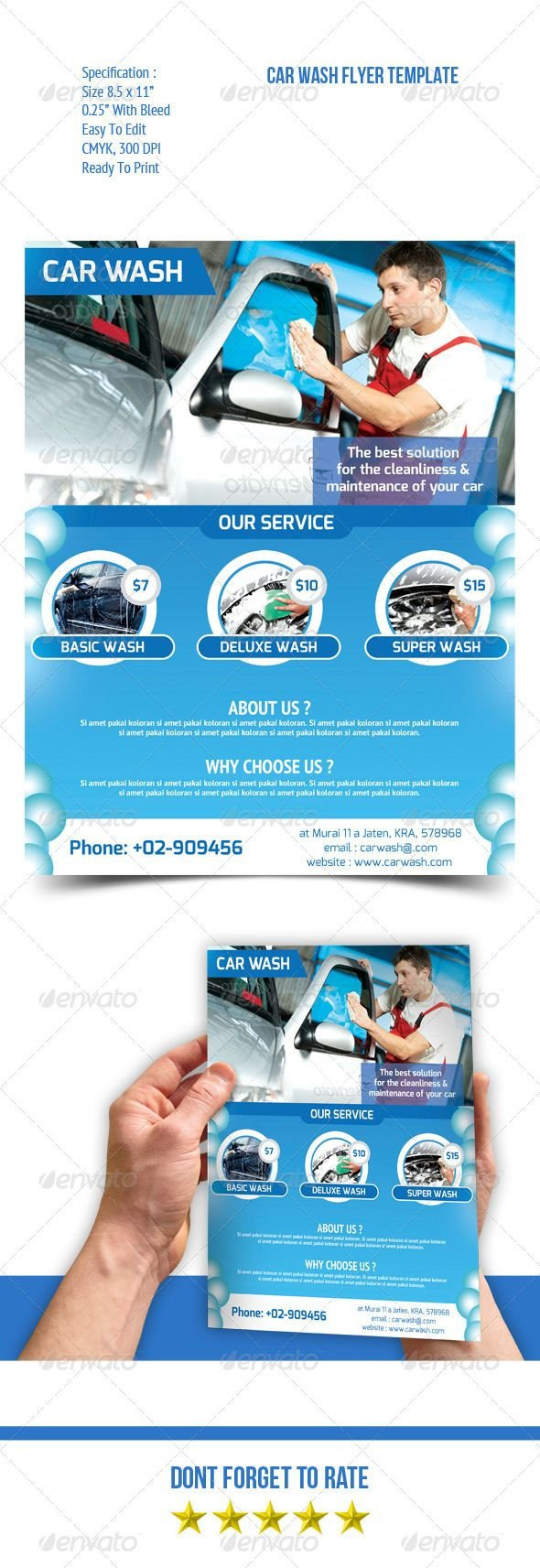 Car Wash Flyer Template Car Wash Flyer