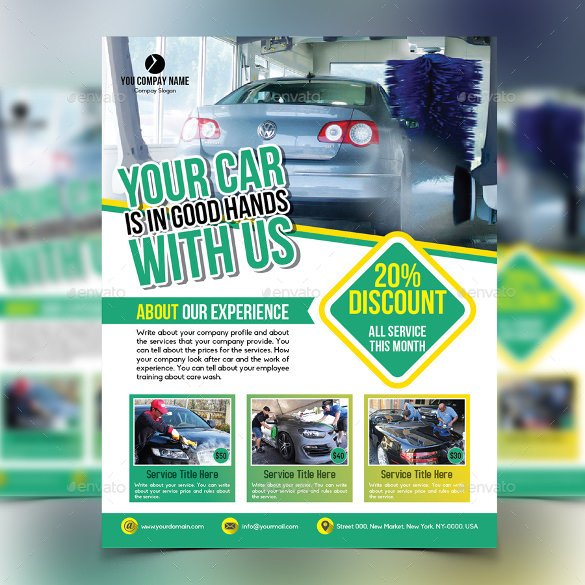 Car Wash Flyer Template Car Wash Flyers – 40 Free Psd Eps Indesign format