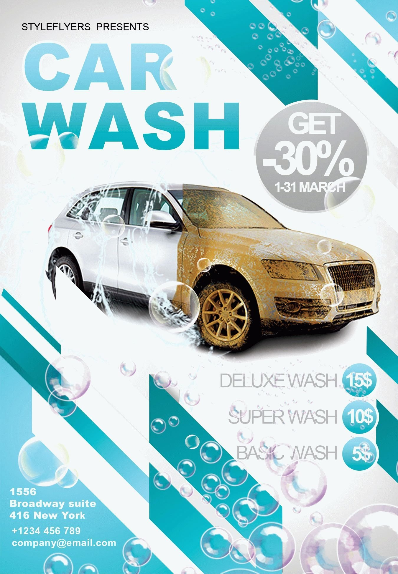 Car Wash Flyer Template Car Wash Psd Flyer Template
