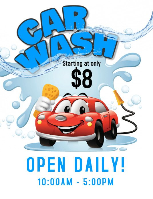 Car Wash Flyer Template Car Wash Service Flyer Template