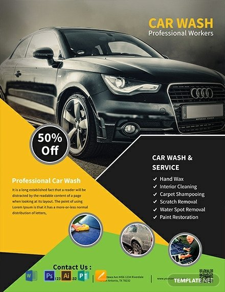 Car Wash Flyer Template Free 10 Free Car Wash Flyer Templates [download Ready Made