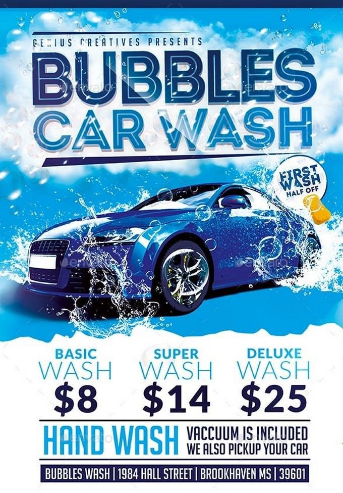 Car Wash Flyer Template Free 20 Car Wash Flyer Templates 2019 Templatefor