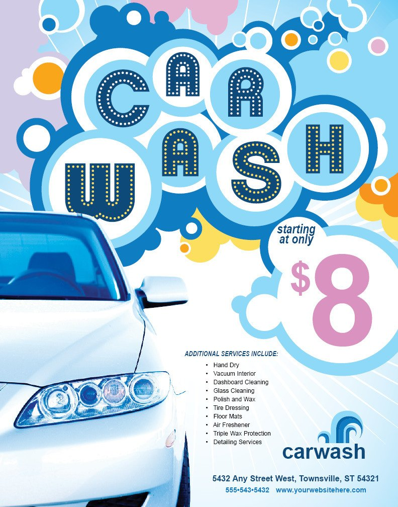 Car Wash Flyer Template Free Beaufiful Car Wash Flyer Template 9 Free Car Wash