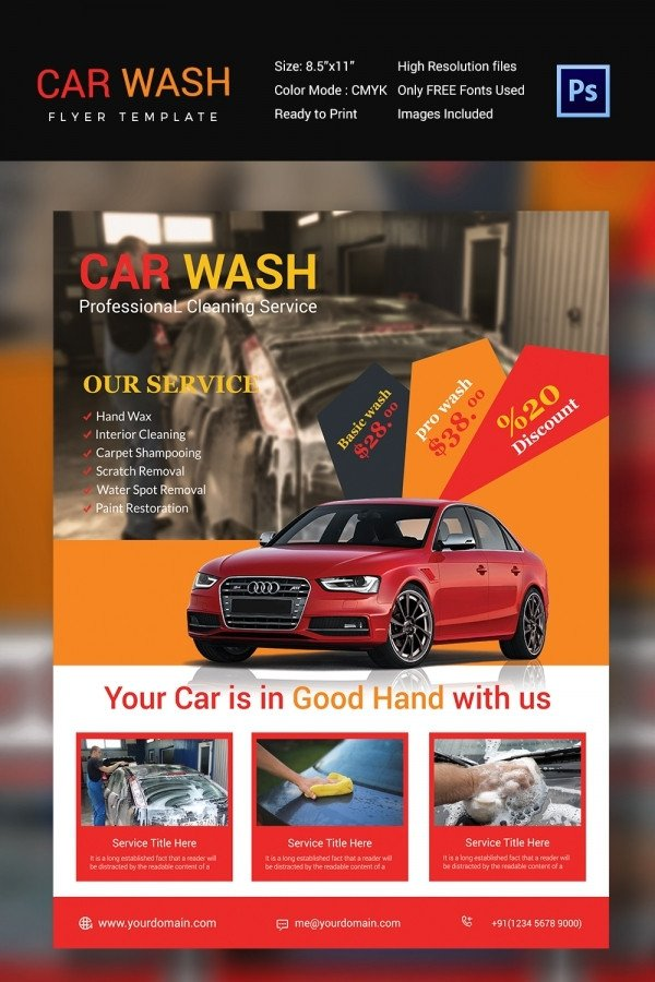 Car Wash Flyer Template Free Car Wash Flyer 48 Free Psd Eps Indesign format