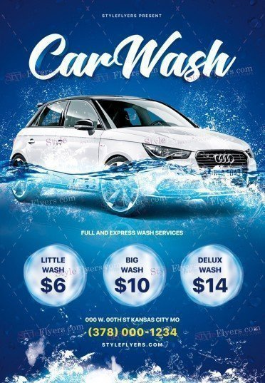 Car Wash Flyer Template Free Car Wash Psd Flyer Template Styleflyers