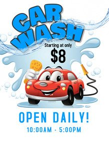 Car Wash Flyer Template Free Customize 300 Car Wash Flyer Templates