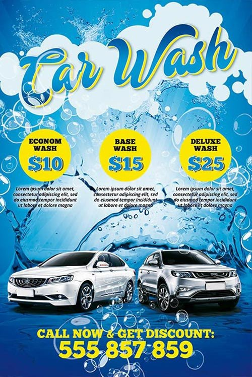 Car Wash Flyer Template Free Download the Car Wash Free Psd Poster Template
