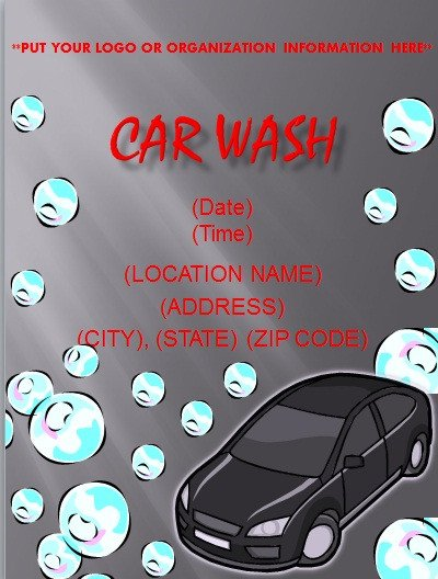 Car Wash Flyer Template Free Flyer and Resume Templates
