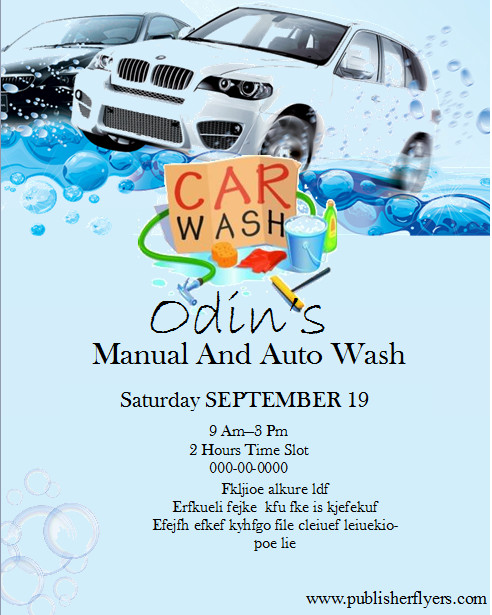 Car Wash Flyer Template Free Free Editable and Printable Publisher Car Wash Flyer