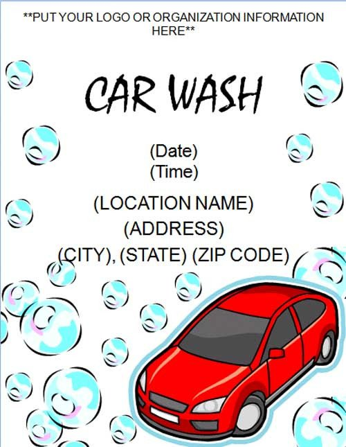 Car Wash Flyer Template Free Free Sample Car Wash Flyer Template Free Line Flyers