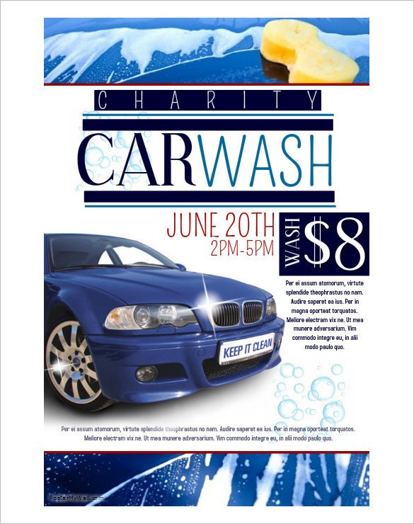 Car Wash Flyers Template 48 Fundraiser Flyer Templates Psd Eps Ai Word