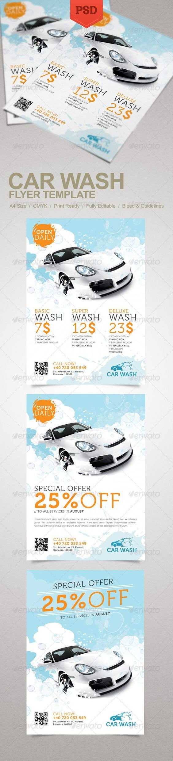 Car Wash Flyers Template Car Wash Flyer