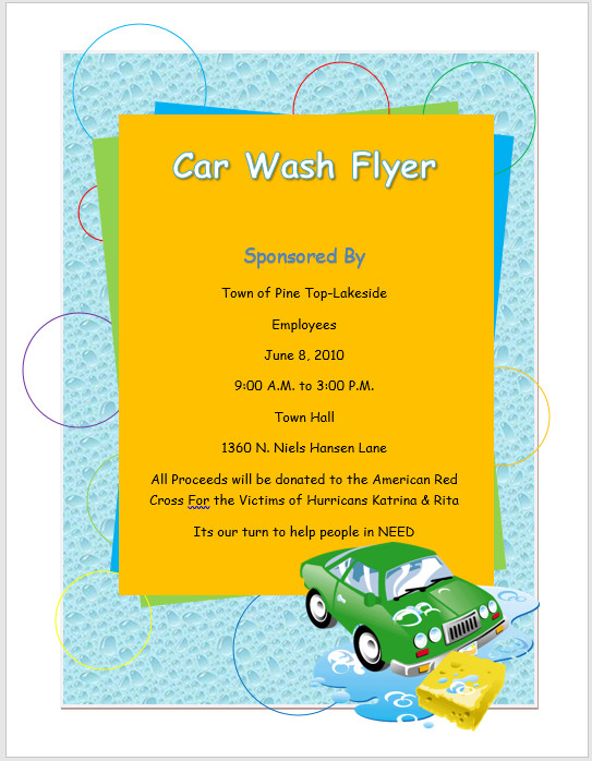 Car Wash Flyers Template Car Wash Flyer Template – Microsoft Word Templates