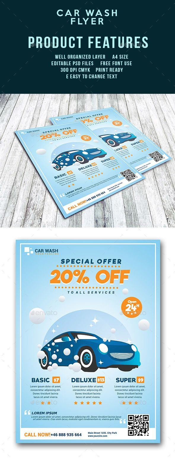 Car Wash Flyers Template Car Wash Flyer Template