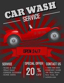 Car Wash Flyers Template Car Wash Flyer Templates