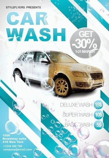 Car Wash Flyers Template Car Wash Psd Flyer Template 6214 Styleflyers