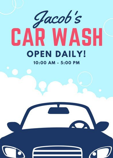 Car Wash Flyers Template Customize 77 Car Wash Flyer Templates Online Canva