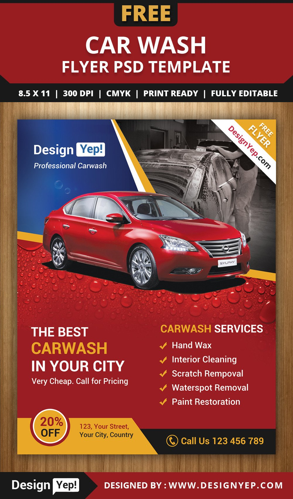 Car Wash Flyers Template Free Car Wash Flyer Psd Template Designyep