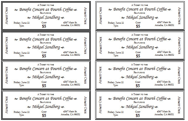Car Wash Ticket Template Microsoft Word 10 Free event Ticket Templates for Word and Adobe