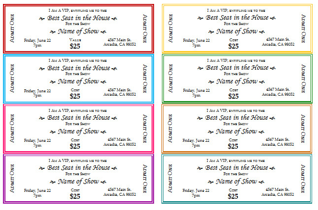 Car Wash Ticket Template Microsoft Word 12 Free event Ticket Templates for Word Make Your Own