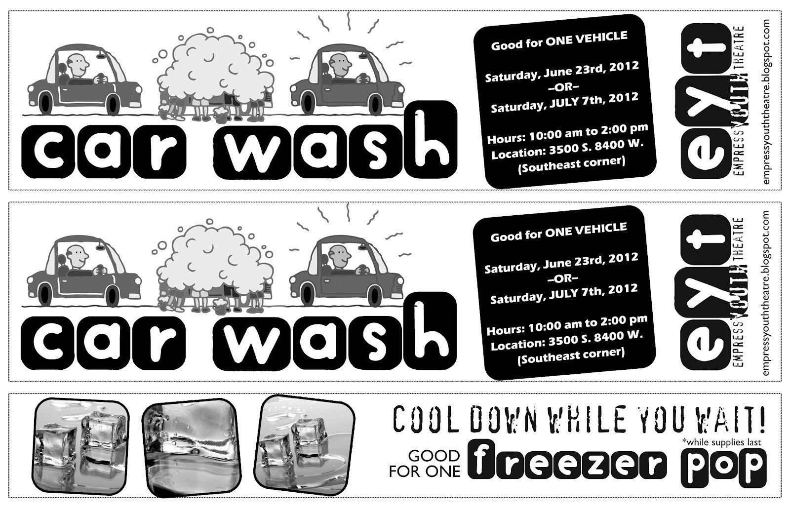 Car Wash Ticket Template Microsoft Word Partthepiratebay Blog