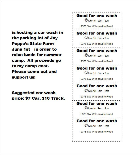 Car Wash Ticket Template Microsoft Word Ticket Templates – 99 Free Word Excel Pdf Psd Eps