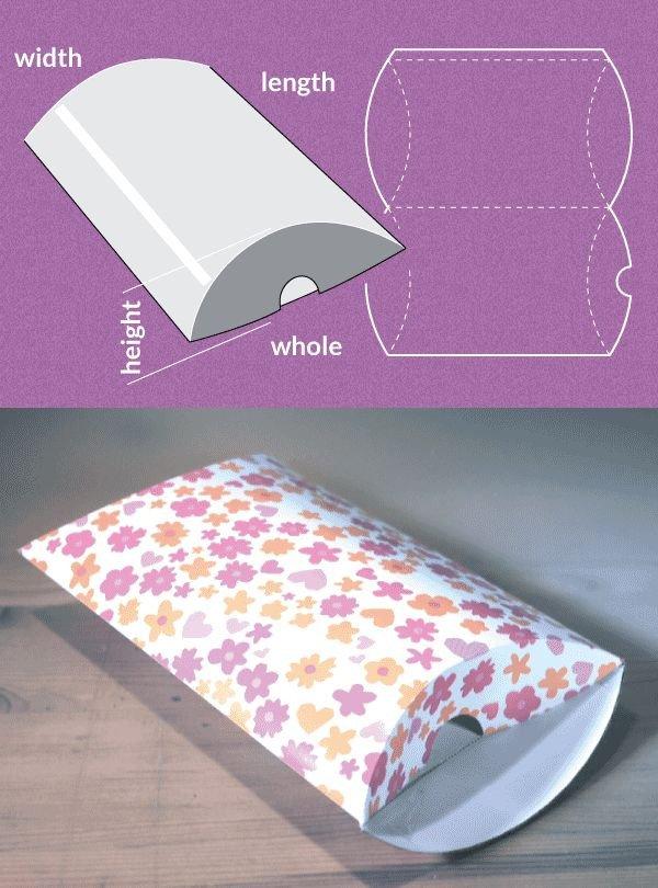 Cardboard Box Template Generator 25 Unique Pillow Box Ideas On Pinterest